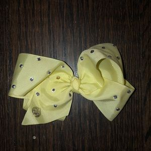 MINI YELLOW JOJO SIWA BOW WITH RHINESTONES